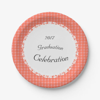 Peach-Floral-Lace-Celebration(c)TEMPLATE 7 Inch Paper Plate