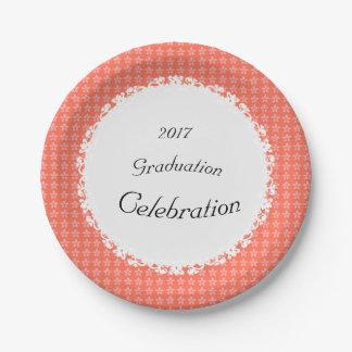 Peach-Floral-Lace-Celebration(c)TEMPLATE Paper Plate