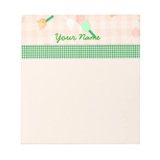 Peach Floral Notepad