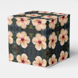 peach flower favor box