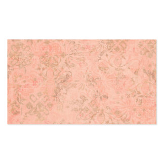 Peach flower ornamental pattern background business cards