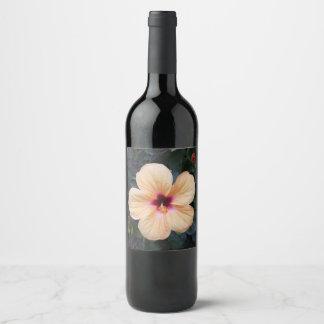 peach flower wine label