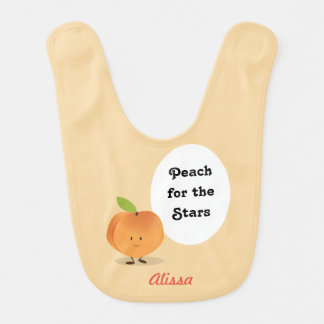 Peach for the Stars | Baby bib