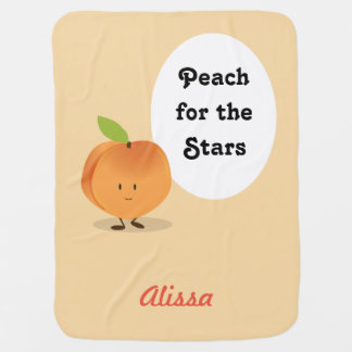 Peach for the Stars | Baby Blanket