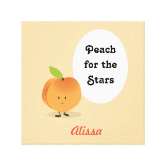 Peach for the Stars | Canvas Art