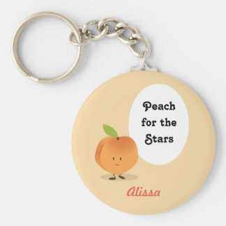 Peach for the Stars | Keychain