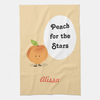 Peach for the Stars | Kitchen Towel
