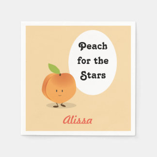 Peach for the Stars | Paper Napkins