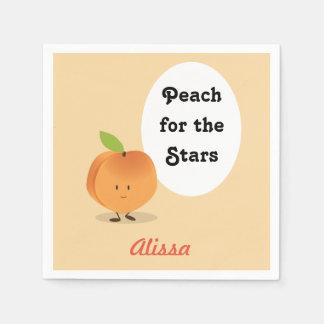 Peach for the Stars | Paper Napkins Disposable Serviette