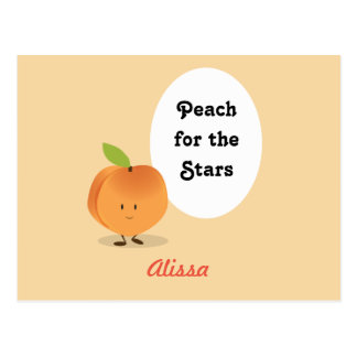 Peach for the Stars | Postcard