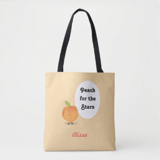 Peach for the Stars | Tote Bag