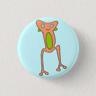 Peach Frog 3 Cm Round Badge