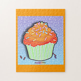 Peach Frosted Cupcake Puzzle