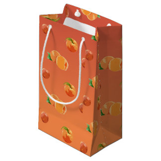 Peach Fruit Pattern Gift Wrapping Small Gift Bag