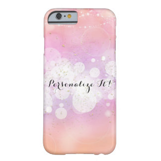 Peach Glow Sparkle Lights Glamour Chi Barely There iPhone 6 Case