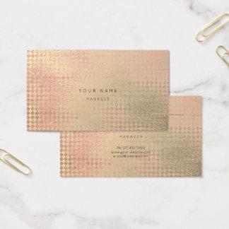 Peach Gold Blush Diamond Cut Appointment Card