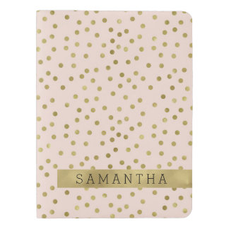 Peach Gold Confetti Dots Extra Large Moleskine Notebook