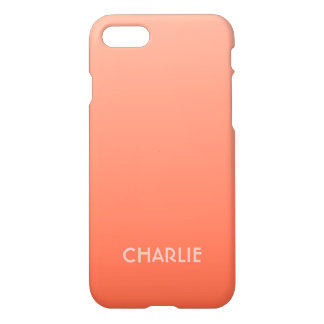 Peach Gradient custom monogram phone cases