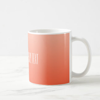 Peach Gradient custom text mugs
