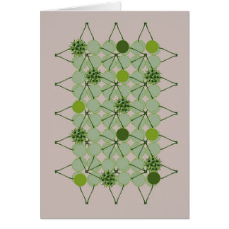 Peach Green Baubles Card