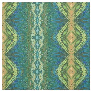 Peach, Green, Blue & Cream Boho Fabric 'Macon'