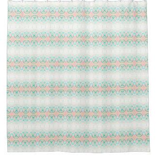Peach & Green Frost bath Shower Curtain