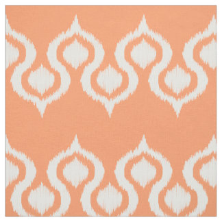 Peach Ikat Tribal Pattern Fabric