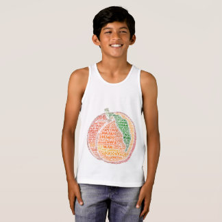 Peach illustrated with cities of Florida State USA Singlet
