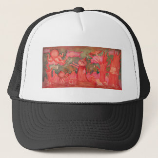 peach man trucker hat