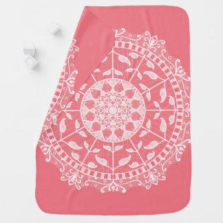 Peach Mandala Baby Blanket
