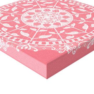 Peach Mandala Canvas Print