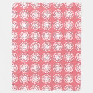 Peach Mandala Fleece Blanket