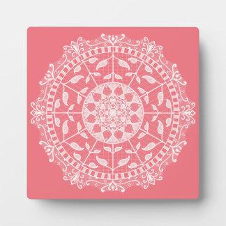 Peach Mandala Plaque