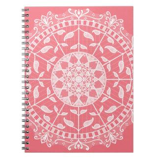 Peach Mandala Spiral Notebook