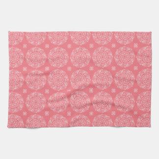 Peach Mandala Tea Towel