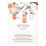 Peach Mason Jars Spring Baby Shower Invitation