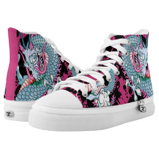 Peach Melba Splash Dragon Tattoo Sneakers