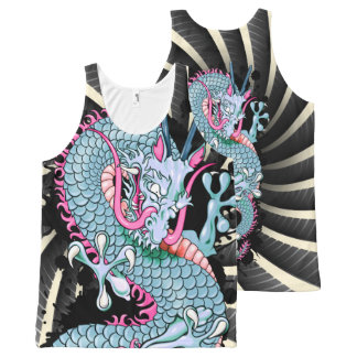 Peach Melba Splash Dragon with Wind Bars Tank Top