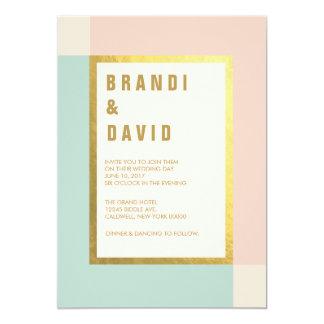 Peach Mint Gold Foil Wedding Invites | Weddings