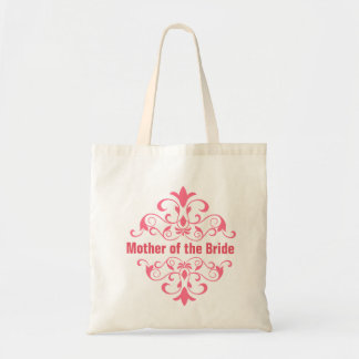 Peach Mother of the Bride Wedding Tote Bag