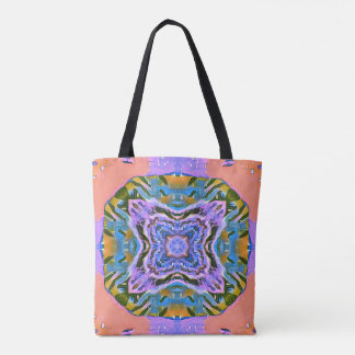 Peach Multicolored Girly Travel Tote