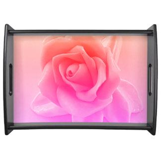 Peach neon Pink Rose Bridal Tray