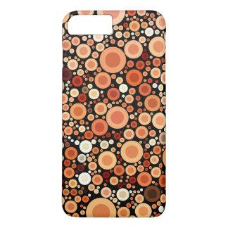 Peach Orange Circles Geometric Pattern iPhone 7 Plus Case