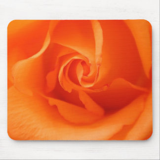 Peach Orange Rose Mouse Pad