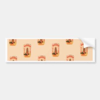 Peach Pagoda Bumper Sticker