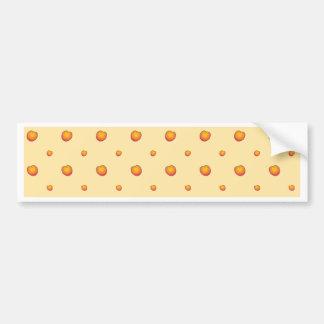 Peach Pattern Bumper Sticker
