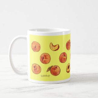 Peach pattern mug - yellow