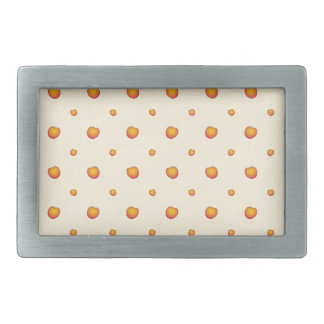 Peach Pattern Rectangular Belt Buckles