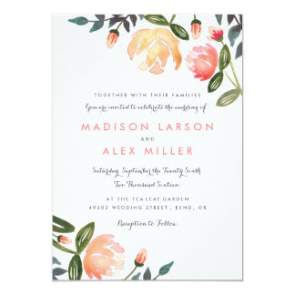 Peach Peonies Card