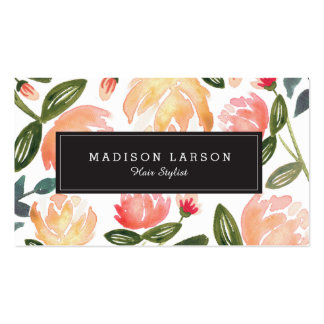 Peach Peonies Pack Of Standard Business Cards